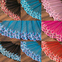 1Yard Vintage Floral Tulle Embroidered Lace Trim Bridal Applique Sawing Craft