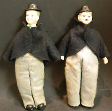 "Vintage Laurel and Hardy 10.5"" Porcelain Dolls Very Good Condition"