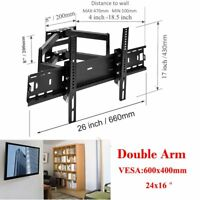 "TV Wall Mount Tilt Swivel 32 36 37 40 42 45 46 47 50 55 60 65"" Inch for LG Vizio"