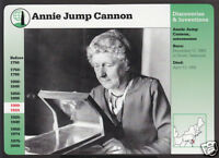 ANNIE JUMP CANNON Astronomer Photo Bio GROLIER STORY OF AMERICA CARD