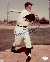 1956-58 Cleveland Indians Chico Carrasquel Autographed 8x10 Photo JSA Hologram