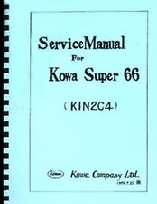 Kowa Super 66 Camera Service and Repair Manual