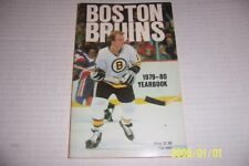 1979 80  BOSTON BRUINS Official Yearbook Rick MIDDLETON Terry O'REILLY Cheevers