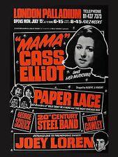 "Mama Cass / Paper lace Palladium 16"" x 12"" Photo Repro Concert Poster"