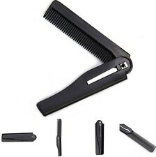 Black Folding Comb ideal for beards and moustaches
