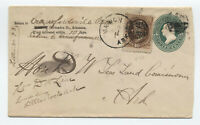 c1880 Marion AR registered cover 10ct banknote [H.169]
