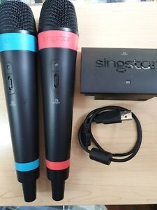 2 X OFFICIAL WIRELESS SINGSTAR MICROPHONES (MICS) PLAYSTATION 3 PS3