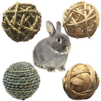Rabbit Pet Chew Toy Clean Teeth Natural Grass Ball Small Pet Perfect Molar T jv