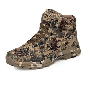 Winter Men Boots Camouflage Warm Cotton Army Shoes Footwear Military Boots 2019