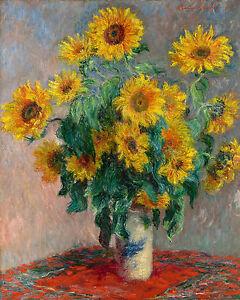 Claude Monet Reproduction: Bouquet of Sunflowers - Fine Art Print