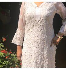 Indian Chikankari Gota Patti Jaal Kurti Lucknow Ethnic Wear Traditional Kurta