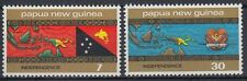 Papua-Neuguinea 1975 ** Mi.296/97 Unabhängigkeit Independence Flagge [sq6051]