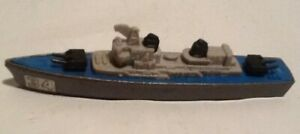 Tootsietoy WWII Navy Destroyer #34 Diecast Military Boat Cast Hull On Wheels