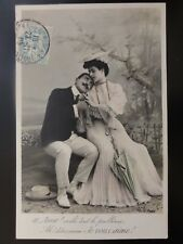 French Romance: AIME!  Je VOUS AIME ! / Three Words I LOVE YOU c1905