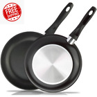 """Wok Frying Saute Pan Reinforced edge 9.5"""" Non-Stick Skillet Cooking  Fry Coating"""