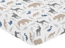 Sweet Jojo Designs Woodland Baby Crib Or Toddler Fitted Sheet - Animal Print