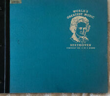 Vintage Worlds Greatest Classical BEETHOVEN SYMPHONY NO. 5 IN C MINOR Record Set