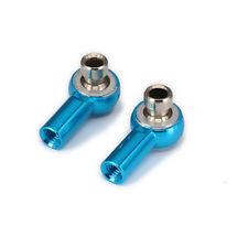 2PCS Alum M3 Thread Ball Head Holder Tie Rod End 18mm Length RC 1:10  Car Blue