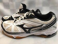 Mizuno Wave Hurricane 2 Volleyball Shoe Women's Size 9.5 White Black