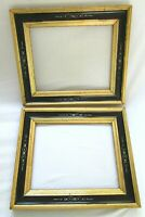 "2 ANTIQUE FIT 8 X 10"" LEMON GOLD GILT PICTURE FRAME WOOD GESSO FINE ART COUNTRY"