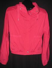 Ladies LULULEMON Pink Hidden Hooded Windbreaker Cropped Crop Jacket Size 6