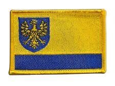 Polen Woiwodschaft Oppeln Aufnäher Flaggen Fahnen Patch Aufbügler 8x6cm