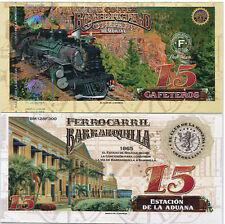 EL CLUB DE LA MONEDA COFFEE RAILROAD 15 GAF 2017 BARRANQUILLA1865 UNC