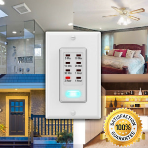 Wall Light Timer Switch 5-10-15-20-30 Minute / 1-2-4 Hour Auto Countdown Outlet