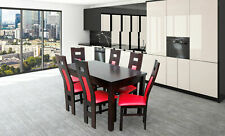 Design Dining Room Set Chair Set Table+6 Chairs Essgarnituren Tables Wood