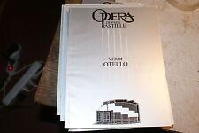 Programme de l'Opéra Bastille de paris verdi otello