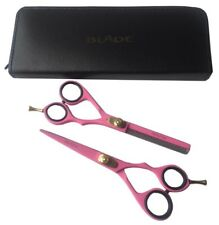 """Professional Barber Hair Cutting Scissors Thinning Hairdressing Ladies Pink 5.5"""""""