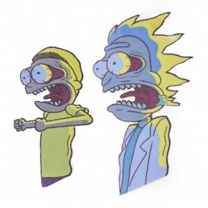 Ride With Rick and Morty Car Sticker Window Cartoon Network Truck Van Bus Gift