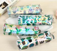 oooo4pcs Cartoon cactus print eco-friendly pencil case