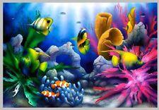 7x5FT Under Sea Bed Ocean Corals Fish Rocks Photo Studio Background Backdrop