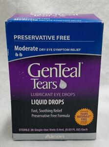 Genteal Tears Liquid Drops - 36 ct 0.03oz Each EXP 11/2021