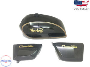 NORTON COMMANDO INTERSTATE BLACK WITH SIDE PANELS |Fit For