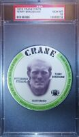 1976 CRANE DISCS Terry Bradshaw PSA 10 GEM MINT Pittsburgh Steelers HOF QB 🔥📈
