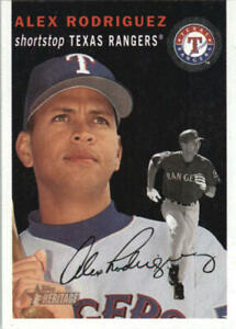 Alex Rodriguez 2003 Heritage Black #1 #1b SP Texas Rangers BX H1C-1