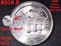 2016 P Harpers Ferry WV Quarter Error Coin !!!!Cat On The Roof!!!! **GEM**