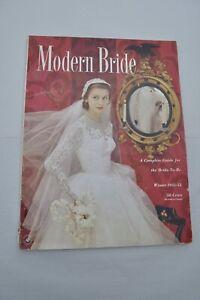 Vintage Modern Bride Magazine Winter 1951-52 Same Day Shipping