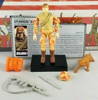 Original 1988 GI JOE SPEARHEAD & MAX V1 ARAH Complete UNBROKEN figure & file