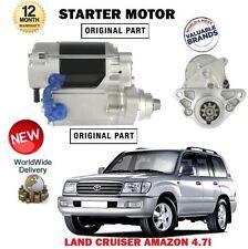 FOR TOYOTA LAND CRUISER + AMAZON 4.7 + V8 4664cc NEW STARTER MOTOR UNIT