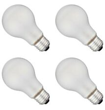 Incandescent Light Bulbs 60 Watt A19 E26 Base 600 Lumens Soft White - 4 Bulbs
