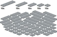 Lego - Bricksy's Bascis - Lightbluishgray - B30 - Platten neues hellgrau - breit
