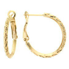 24 Kt Gold over Fine Silver Plated Diamond Cut Hoop