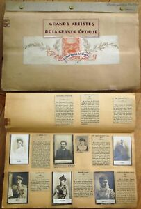 French Theatre Realphoto Cigarette Cards 1900 Hand-Made Album, Collection