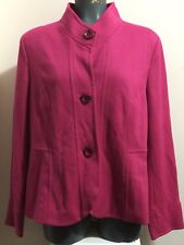 OLSEN EUROPE Women's New York Cool Hot Pink Jacket Size 44 EU / 12 US NWT