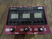 Zoom B3 Bass Guitar Multi Effects Pedal with Tracking Number Free Shipping