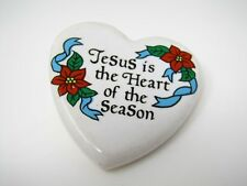Vintage Collectible Pin: Jesus is the Heart of the Season
