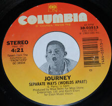 "Classic Rock 45~JOURNEY~Separate Ways (Worlds Apart) / Frontiers~Columbia 7"""